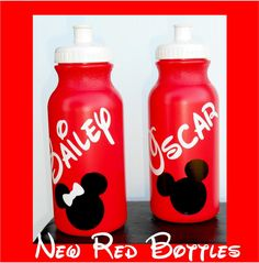 20oz Walt Disney Water Bottle Personalized Minnie Mouse Mickey Mouse Birthday Party Favor by jgrimes1 on Etsy https://www.etsy.com/listing/158785953/20oz-walt-disney-water-bottle