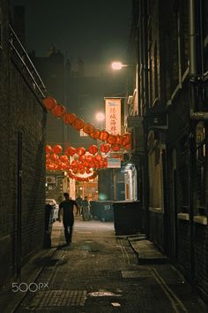 Chinatown nights - Narrow back alley in Chinatown, London