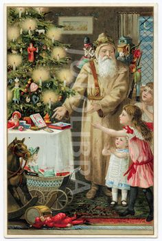 Father Christmas : 1890s Santa Claus, St. Nick, Father Christmas