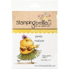 """Stamping Bella Cling Rubber Stamp 3.75""""X5""""-Hula Chick"""