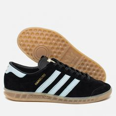Adidas Originals Hamburg Core Black/Blue/Vintage White. Article: S74833. Release: 2016.