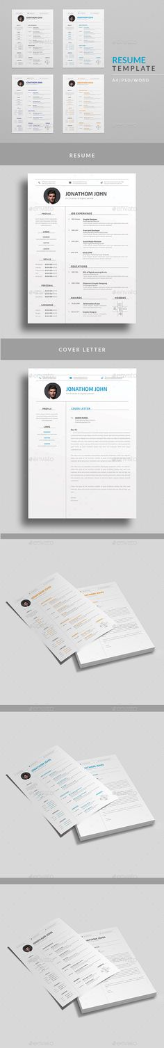 Resume Free cover letter, Resume cv and Professional resume template - resume layout template