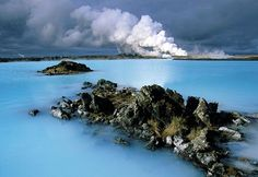 Blue Lagoon , Iceland    hot springs by volcano