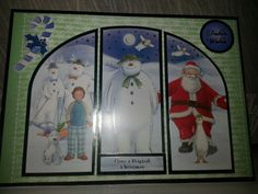 I used the snowman and the snowdog kit to make this Christmas card