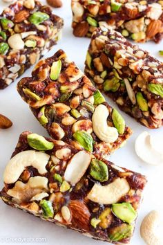 Date Bars - Healthy Date Bars (Healthy Date Nut Bars) – Greedy Eats -Healthy Date Bars - Healthy Date Bars (Healthy Date Nut Bars) – Greedy Eats - Healthy Snack Bars, Healthy Dessert Recipes, Healthy Baking, Snack Recipes, Salami Recipes, Desserts, Date Nut Bars, Clean Eating, Vegan