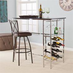 Boston Loft Furnishings ATG1301 Stanley Wine Storage Pub Table $350