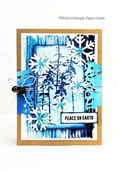 Simply Paper Crafts: Mixed Media Card Winter Blues