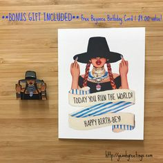 Printable birthday card bey day beyonce gift icon digital file bonus gift free beyonce birthday card with every order 400 value bookmarktalkfo Image collections