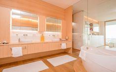 Architektenvilla mit atemberaubendem Panoramablick auf den Bodensee Villa, Alcove, Bathtub, Bathroom, Sous Sol, Living Dining Rooms, Dressing Room, Storage Room, Underground Garage