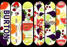 Quick Initial Designs using my fruit illustrations