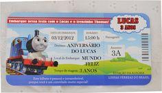 Convite Thomas e seus amigos Personalizado