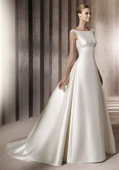 I love this style - but instead of the silk-satin, I would want lace... also a very open back