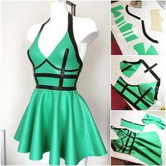 Jade Harness Dress #filthywilde #williamwilde WILLIAMWILDE.COM #latex #fashion #glamour #style