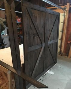 """4 Likes, 1 Comments - RusticRoo Designs (@rusticroodesigns) on Instagram: """"Two British Brace barn doors for a master bedroom remodel with opening trim included to match the…"""""""