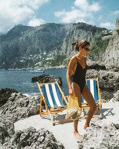 endless summer inspiration for Summer at Capri, Italy. Summer Feeling, Summer Vibes, Summer Fun, Summer Days, Summer Beach, Bikinis, Swimwear, Beachwear, Summer Pictures