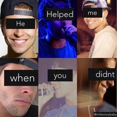 He saved me when you didn't