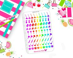 Cleaning Icons in Bold Rainbow 1710 by MamaCassPlans on Etsy