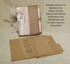 8 Page Index Tab Album Kit 30 mil Kraft Chipboard Embellish Yourself Scrapbook | eBay