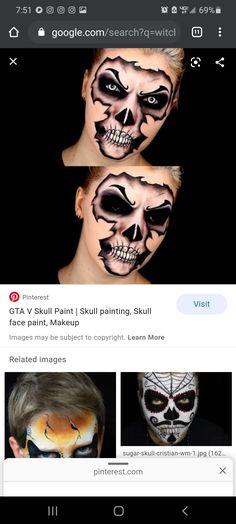 Gta 5 Face Paint : paint, Costumes, Ideas, Halloween, Makeup,
