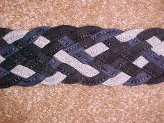 Flat Eight Cord Braid #braid #bracelet