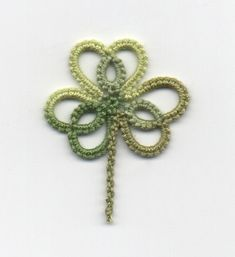 Trèfles... yes, clovers!  I went for the common three-leaf clover, instead of the lucky but elusive four-leaf one.     They are not difficul...