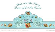 Free Printable Queen of the Sea Crown