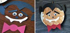 Manualidades de Halloween para niños con paltos desechables: Drácula