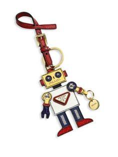 Prada - Leather Robot Keychain