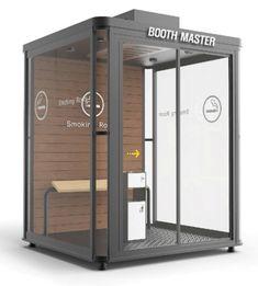 흡연실/흡연부스/담배연기제거기 - 흡연부스 디자인 : 네이버 블로그 Kiosk Design, Booth Design, City Furniture, Furniture Design, Retail Architecture, Guard House, Music Studio Room, Bathroom Design Layout, Exhibition Stall