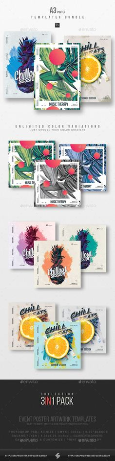 Buy Chillout Session - Summer Party Flyer / Poster Templates Bundle by on GraphicRiver. Summer chillout – house music party flyer templates Summer chill music party flyers collection – pack of 3 creative A. Psd Flyer Templates, Poster Templates, Banner Template, Web Banner, Dj Party, Music Party, Party Flyer, Lounge Music, Graphic Design Posters