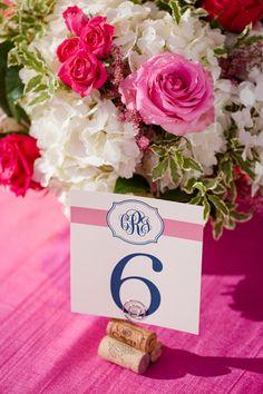 cork table number holders | Katelyn James #wedding