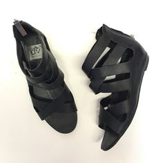 Dolce vita strappy wedge sandals black In great condition. See images for wear Dolce Vita Shoes Sandals