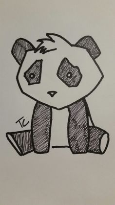 easy drawing panda sad drawings draw sketches step sketch paintings line sadness pencil a4 different kawaii animal