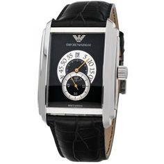 5425f14d1a6 AR4200 Emporio Armani MECCANICO Leather Strap Luxury Mens Watch