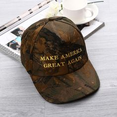 1PC Unisex Adjustable Republican Donald Trump MAKE AMERICA GREAT AGAIN Camo  Cotton Cap Hat Presidential Candidates Hat Hot bd9a851ae1c8