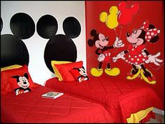 Mickey and Minnie Mouse Theme, could use the decals on gray walls ;)