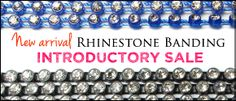 Check out our new, high quality Rhinestone Banding with Faceted Genuine Crystal Rhinestone set in plastic banding. This is perfect for costume trim, bracelet and more.  http://www.ahbeads.com/6399_rhinestone-banding.html
