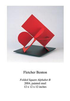 Fletcher Benton (American, born 1931) ~  Folded Square Alphabet B ~ 2004 ~ Painted Steel ~ 12 x 12 x 12 inches
