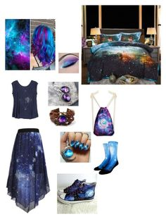 """""""Galaxy Girl"""" by fifthelement ❤ liked on Polyvore featuring WithChic, HVBAO and RVCA"""
