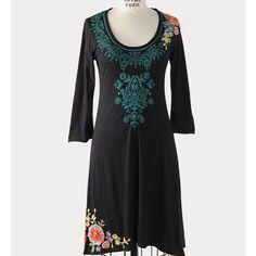 Johnny Was Jwla Rebecca Embroidered Dress Sz Xs
