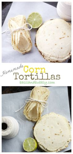Homemade Corn Tortillas are less tough than the store bought variety and take your cooking to the next level with ONLY TWO ingredients!