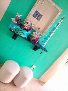 Este é o resultado. Uma festa caseira, com muita criatividade e estilo! Aqui o Hall de entrada!