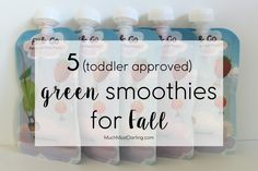Much.Most.Darling.: 5 (toddler approved) 'green' smoothies for Fall.  Great tasting green smoothies for the whole family that are healthy, and fit into our gluten free and dairy free lifestyle!