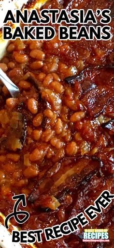 Southern Baked Beans, Best Baked Beans, Homemade Baked Beans, Baked Bean Recipes, Beans Recipes, Side Dish Recipes, Side Dishes For Bbq, Vegetable Side Dishes, Slow Cooker Recipes