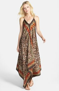 hippie outfits 561613016005415564 - MICHAEL Michael Kors 'Kasai' Scarf Print V-Neck Maxi Dress available at Source by Diy Summer Clothes, Simple Summer Outfits, Maxi Outfits, Hippie Outfits, Beach Dresses, Summer Dresses, Diy Kleidung, Maxi Robes, Scarf Dress