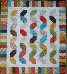 Quilt Pattern Snake Charmer Crib Quilt by LittleLouiseQuilts