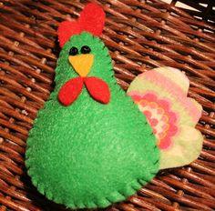 Chicken ornaments handmade felt chickenscountry by tonyasepulveda Handmade Felt, Handmade Ornaments, Felt Ornaments, Holiday Ideas, Holiday Decor, Christmas Crafts, Christmas Ornaments, Felt Crafts, One Color