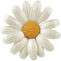 Daisy White Enamel Silver Tone Maxi Brooch found on Polyvore featuring jewelry, brooches, flowers, daisy brooch, white brooch, silvertone jewelry, silver tone jewelry and daisy jewellery