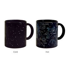 Transitioning Planetary Cups - constellations form as you add hot liquid to the mug