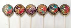6 Stain Glass Wedding Lollipops Beautiful by designerlollipop, $13.00